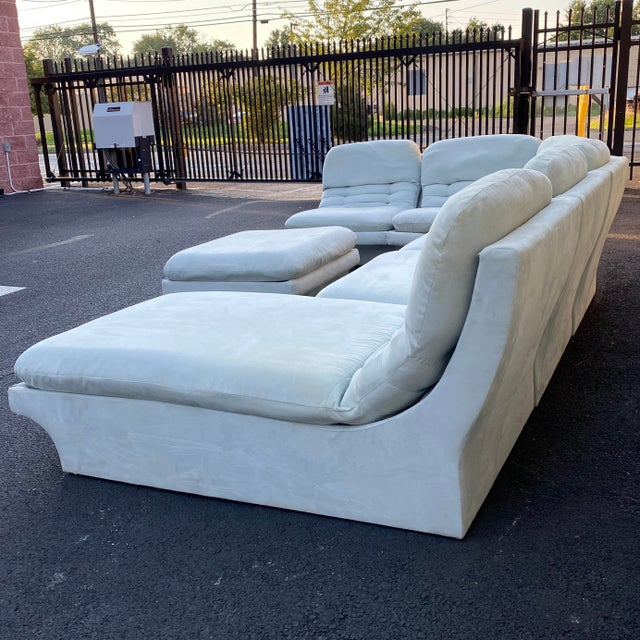 Vladimir Kagan for Preview 7 Piece Modular Sectional For Sale - Image 11 of 13