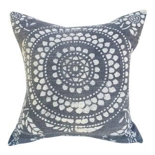 Antique Gray Batik Pillow For Sale