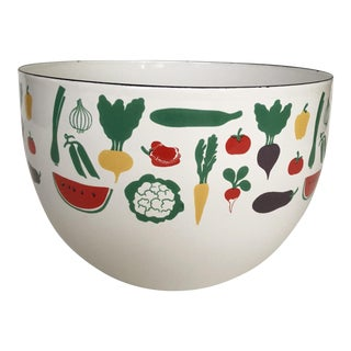 Mid Century Finel Vegetable Enamel Bowl