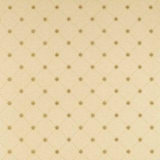 Sample - Schumacher Cooper Star Wallpaper in Alabaster For Sale