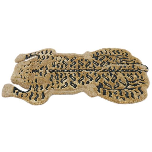 Modern Tibetan Tiger Wool Rug - 3' X 5' For Sale - Image 9 of 9