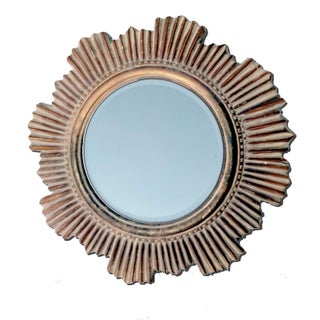 Vintage Cast Louis XIV Style Sunburst Mirror With Beveled Clear Glass Preview