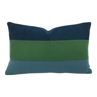 Kravet Couture New Suit Peacock Lumbar Pillow Cover For Sale