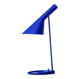 Arne Jacobsen Aj Table Lamp in Ultra Blue for Louis Poulsen For Sale