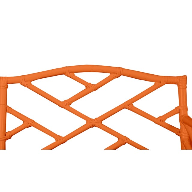 Not Yet Made - Made To Order Chippendale Bench - Orange For Sale - Image 5 of 6