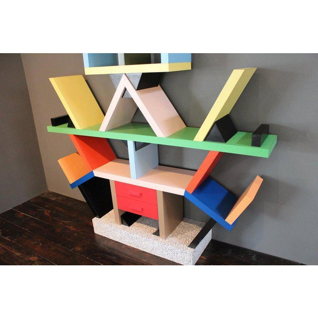 Plastic Early Carlton Bookcase Roomdivider by Ettore Sottsass for Memphis, 1981 For Sale - Image 7 of 10