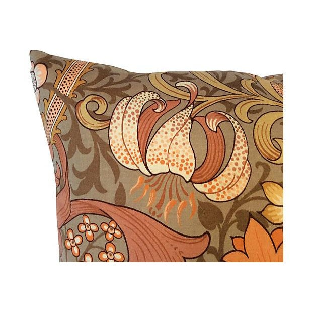 William Morris Golden Lily Floral Pillow - Image 3 of 4