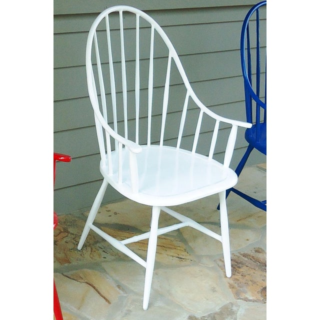 American Windsor Outdoor Chair in White For Sale - Image 3 of 3