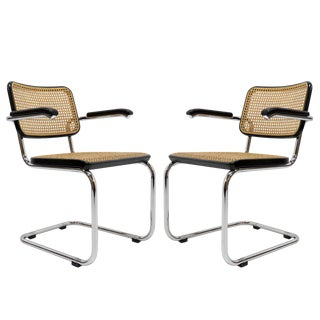 Vintage Marcel Breuer Armchairs for Thonet For Sale