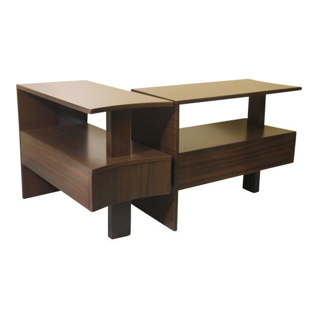 1930s Modernage African Mahogany Side Table For Sale