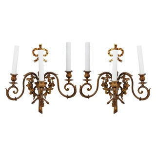 French Louis XVI Sconces - A Pair