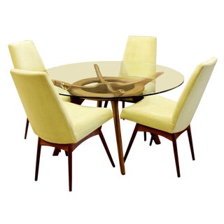 Mid Century Modern Adrian Pearsall Compass Dinette Dining Table & 4 Chairs 1960s