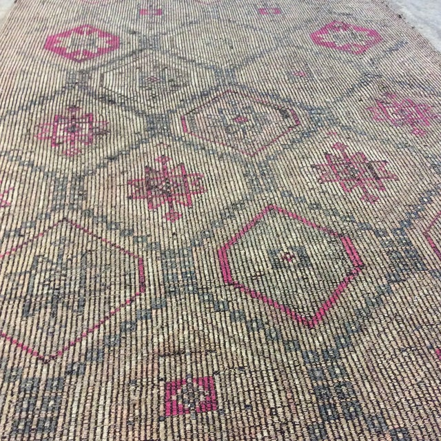"""1860's Turkish Kilim - 4'6""""x8'5"""" For Sale In Richmond - Image 6 of 13"""