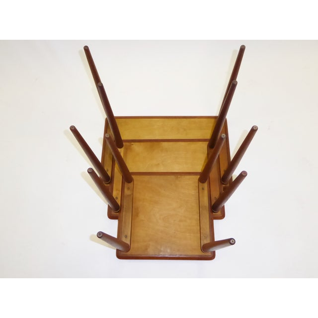 Danish Mid-Century Modern Stacking Nesting Tables in Teak - Set of 3 1950s For Sale - Image 4 of 13