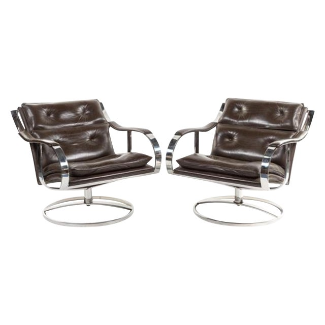 Mid Century Club Chairs, Knoll Style - Pair - Image 1 of 8