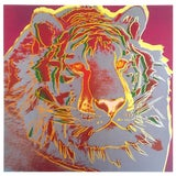 """Image of Andy Warhol Estate Rare Vintage 1992 Endangered Species Collector's Lithograph Print """" Siberian Tiger """" 1983 For Sale"""