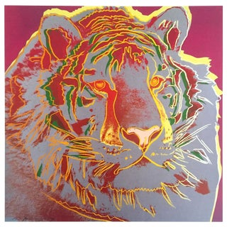 "Andy Warhol Estate Rare Vintage 1992 Endangered Species Collector's Lithograph Print "" Siberian Tiger "" 1983 For Sale"