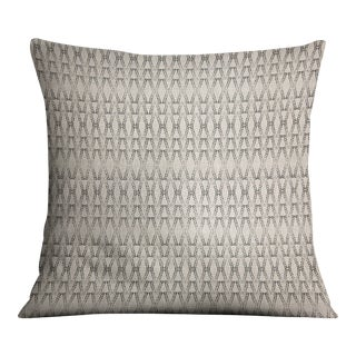 Ketut Black on Natural Linen Pillow Cover For Sale