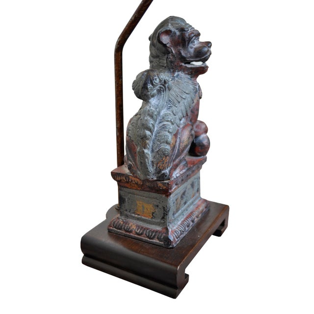 Frederick Cooper Bronze Foo Dog Lamps - A Pair - Image 4 of 7