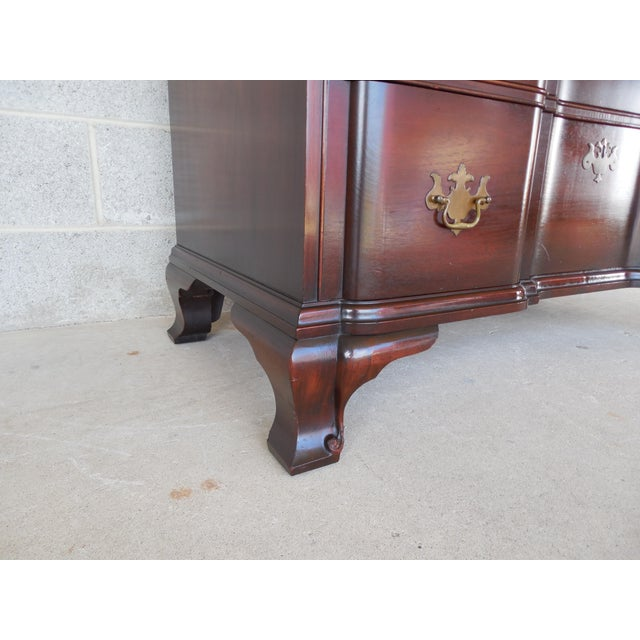 KINDEL Chippendale Style Mahogany Block Front Chest For Sale In Philadelphia - Image 6 of 11