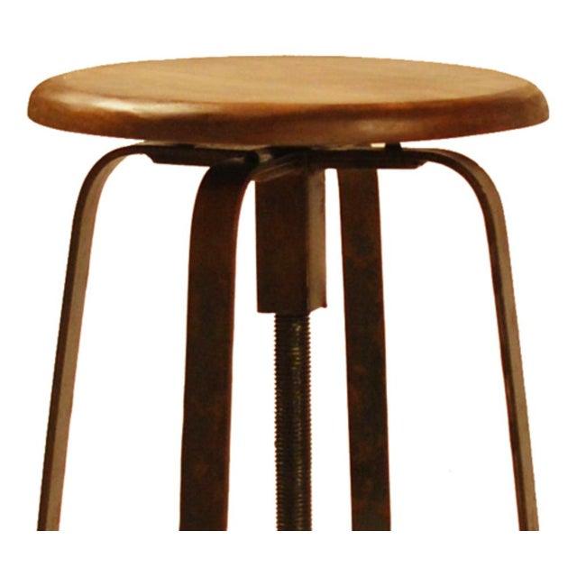 Awesome Wood Industrial Iron Stool Inzonedesignstudio Interior Chair Design Inzonedesignstudiocom