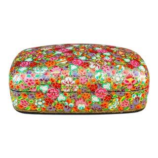 Pushp Kashmiri Hand Painted Box For Sale