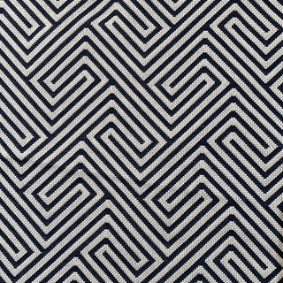 """Scalamandre Navy and White """"labyrinth Weave"""" Heavyweight Woven Fabric Remnant For Sale"""
