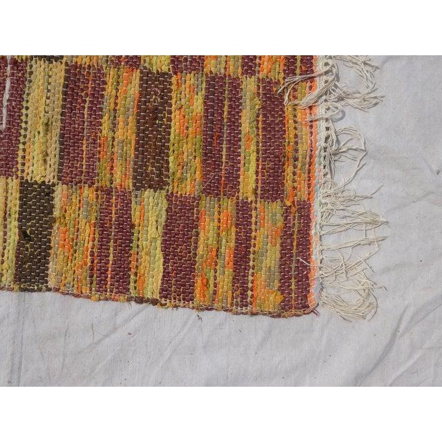 Mid-Century Modern Swedish Hand Woven Rag Rug - 2′6″ × 3′4″ For Sale - Image 3 of 3