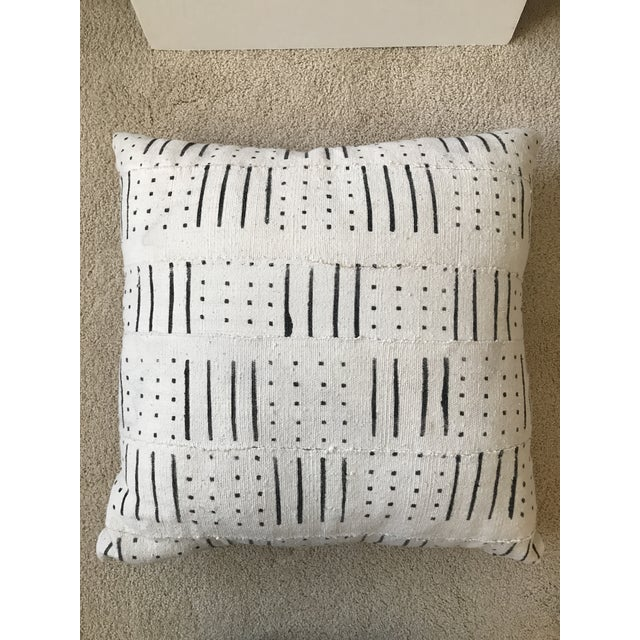 Black and White Mud Cloth Pillow - Image 6 of 6
