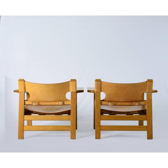 "Pair of Børge Mogensen ""Spanish"" Chairs - Image 3 of 10"