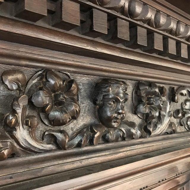 Antique Italian Renaissance Walnut Curio Cabinet For Sale - Image 11 of 13