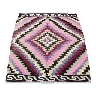 Decorative Pink Color Kilim Rug - 4' 8'' x 3' 9''