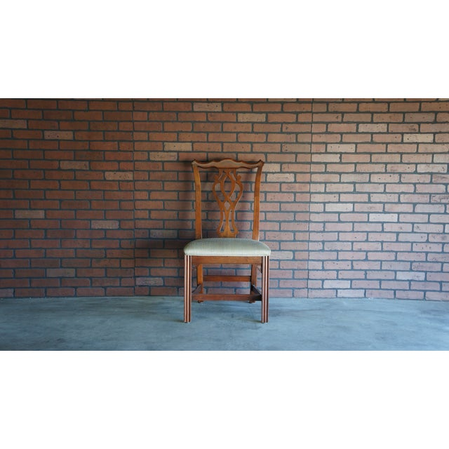 Cherry Wood 1990s Vintage Ethan Allen Georgian Court Dining Chair For Sale - Image 7 of 8