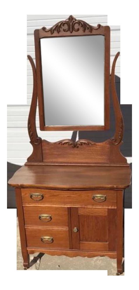 Antique Wash Stand W Mirror Chairish