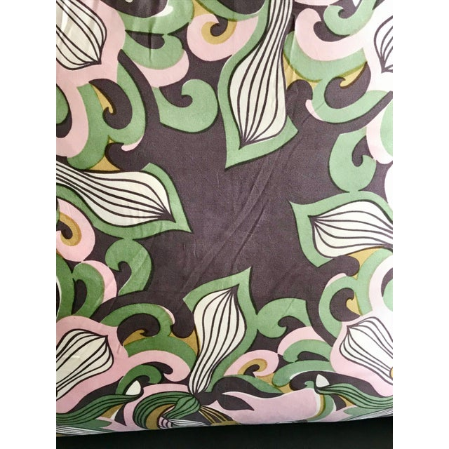Abstract Modern Mid Century Style Scarf Decorative Pillow For Sale - Image 3 of 8
