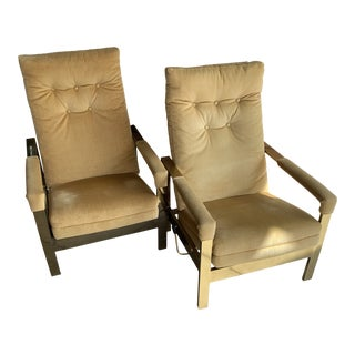 Milo Baughman Style Reclining Lounge Chairs- a Pair For Sale
