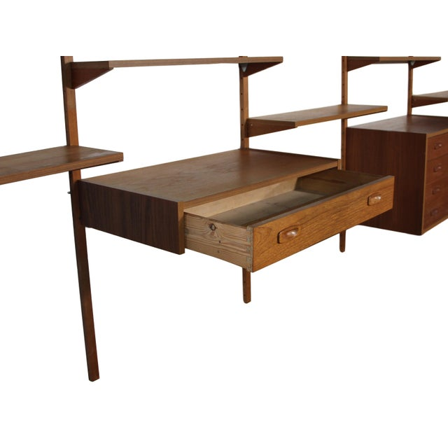 1960s Mid Century Danish 7 Bay Teak Shelving Unit by Ps System For Sale - Image 5 of 13