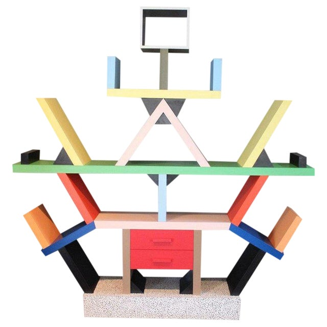 Early Carlton Bookcase Roomdivider by Ettore Sottsass for Memphis, 1981 For Sale