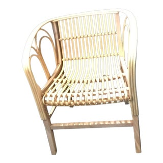 2010's Uragano Wicker Armchair For Sale