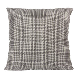 Plaid & Houndstooth Pattern Square Pillow For Sale