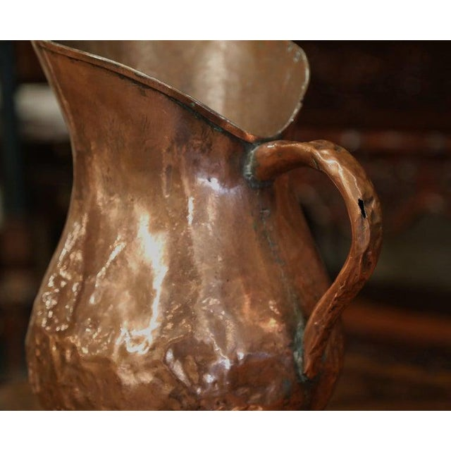 Copper 18th Century French Polished Copper Decorative Coal Bucket or Umbrella Stand For Sale - Image 8 of 9