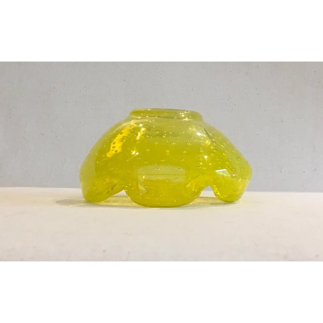 Murano Mid-Century Canary Yellow Catch-All Bowl - Image 8 of 8