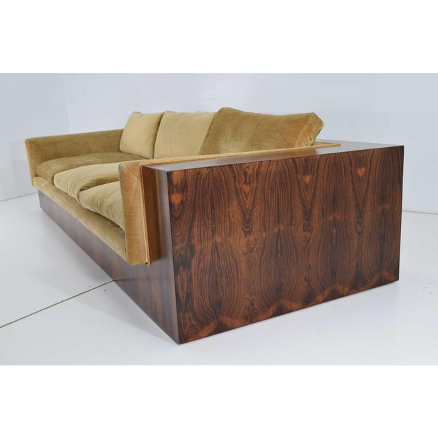 Milo Baughman for Thayer Coggin Rosewood Case Sofa For Sale - Image 9 of 13