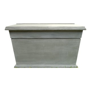 Vintage Solid Wood Storage Box, Chalk Painted and Waxed