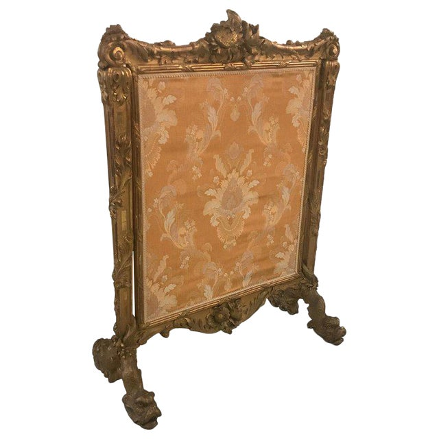 Antique Louis XV Style French Fire Screen For Sale