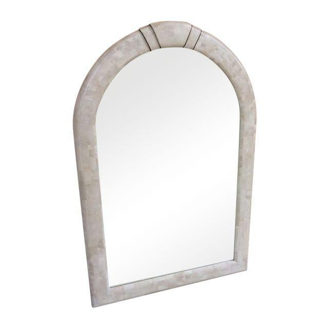 Maitland Smith Arched Tessellated Stone Mirror - Image 1 of 5