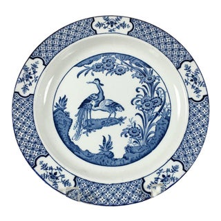 1916 Asian Wood & Sons Yuan Blue and White Collectible Plate For Sale