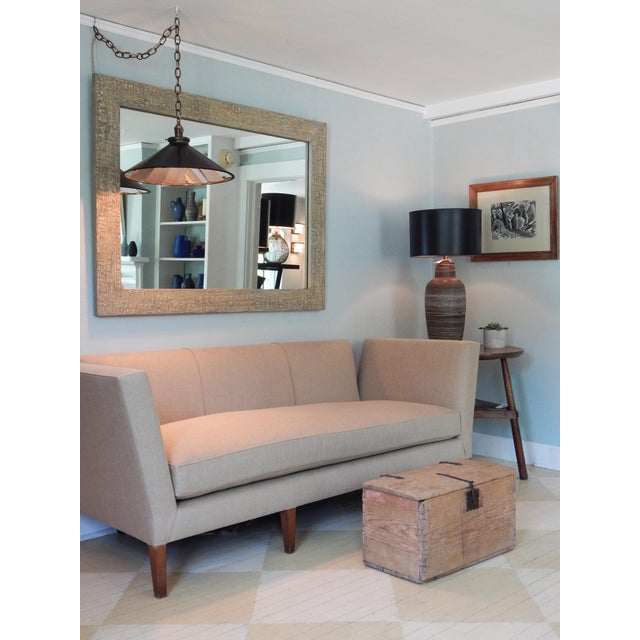 Linen Knole Style Sofa For Sale - Image 7 of 9