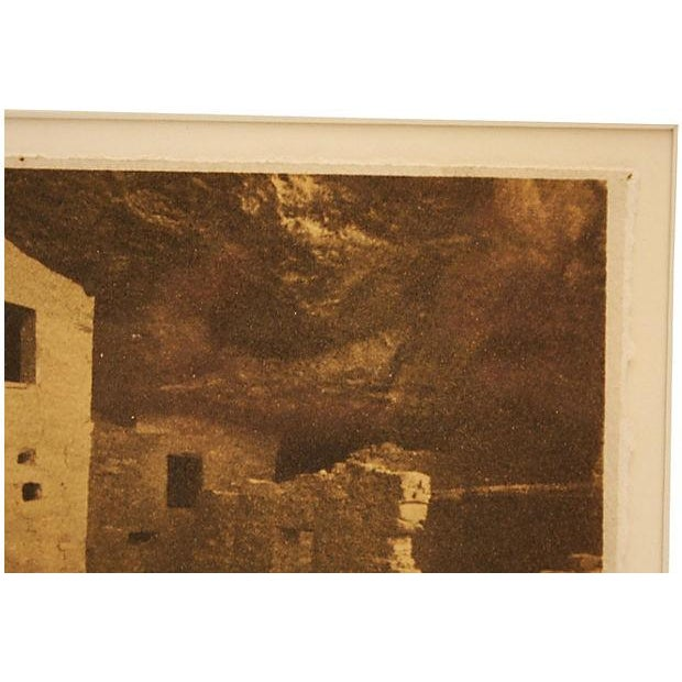 Framed Sepia Toned Vintage Signed Photograph For Sale In Dallas - Image 6 of 6