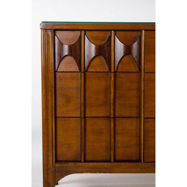 Kent Coffey Kent Coffey Perspecta Walnut and Rosewood Credenza For Sale - Image 4 of 13